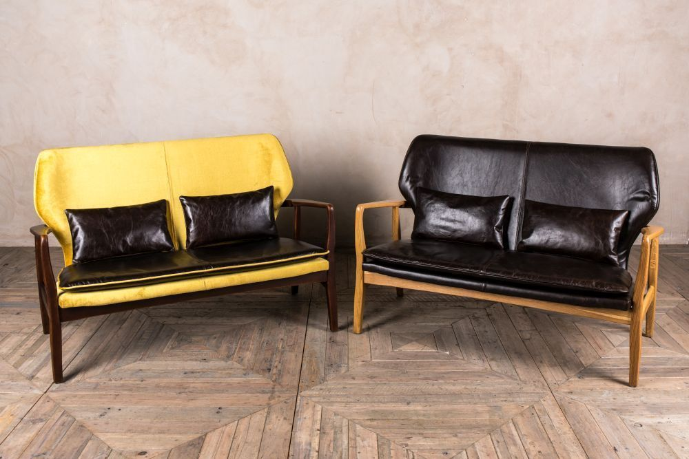 Vintage Look Sofa Retro Style Mid Century Chair Occasional
