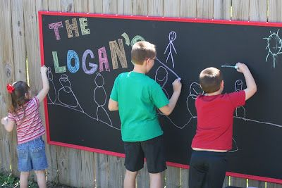 The Logan's: Outdoor Chalkboard