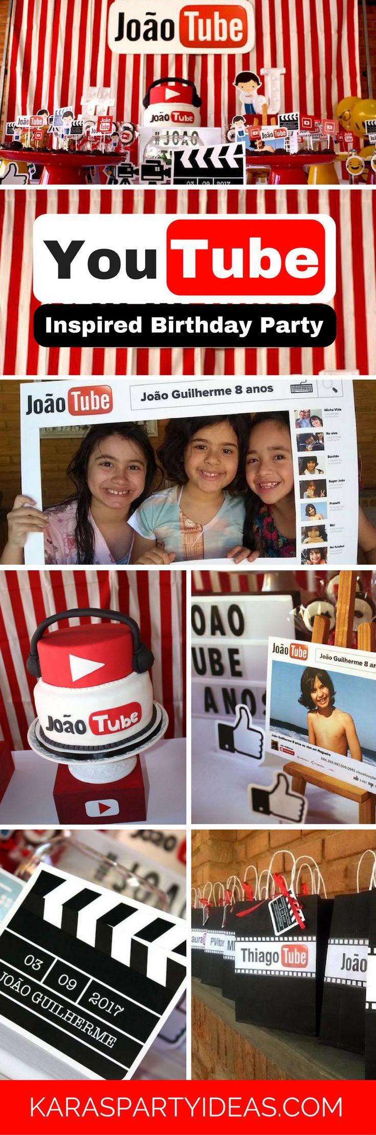Youtube Themed Birthday Party Birthday Party For Teens Boy Birthday Parties Fun Birthday Party