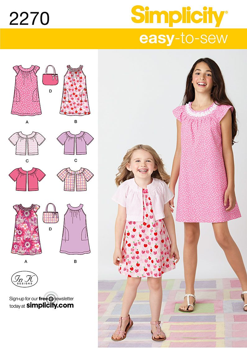 Simplicity pattern 2270: Child\'s & Girl\'s Easy to Sew Dresses ...
