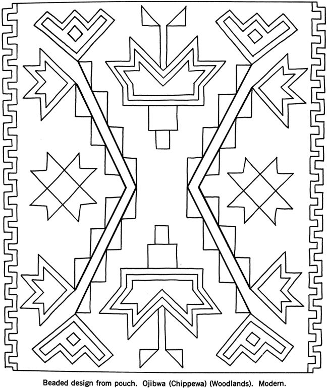 North American Indian Design Coloring Sheets Designs Coloring