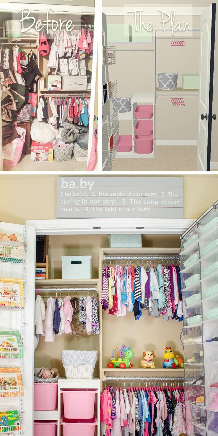 Reach In Closet Organization for Kids images