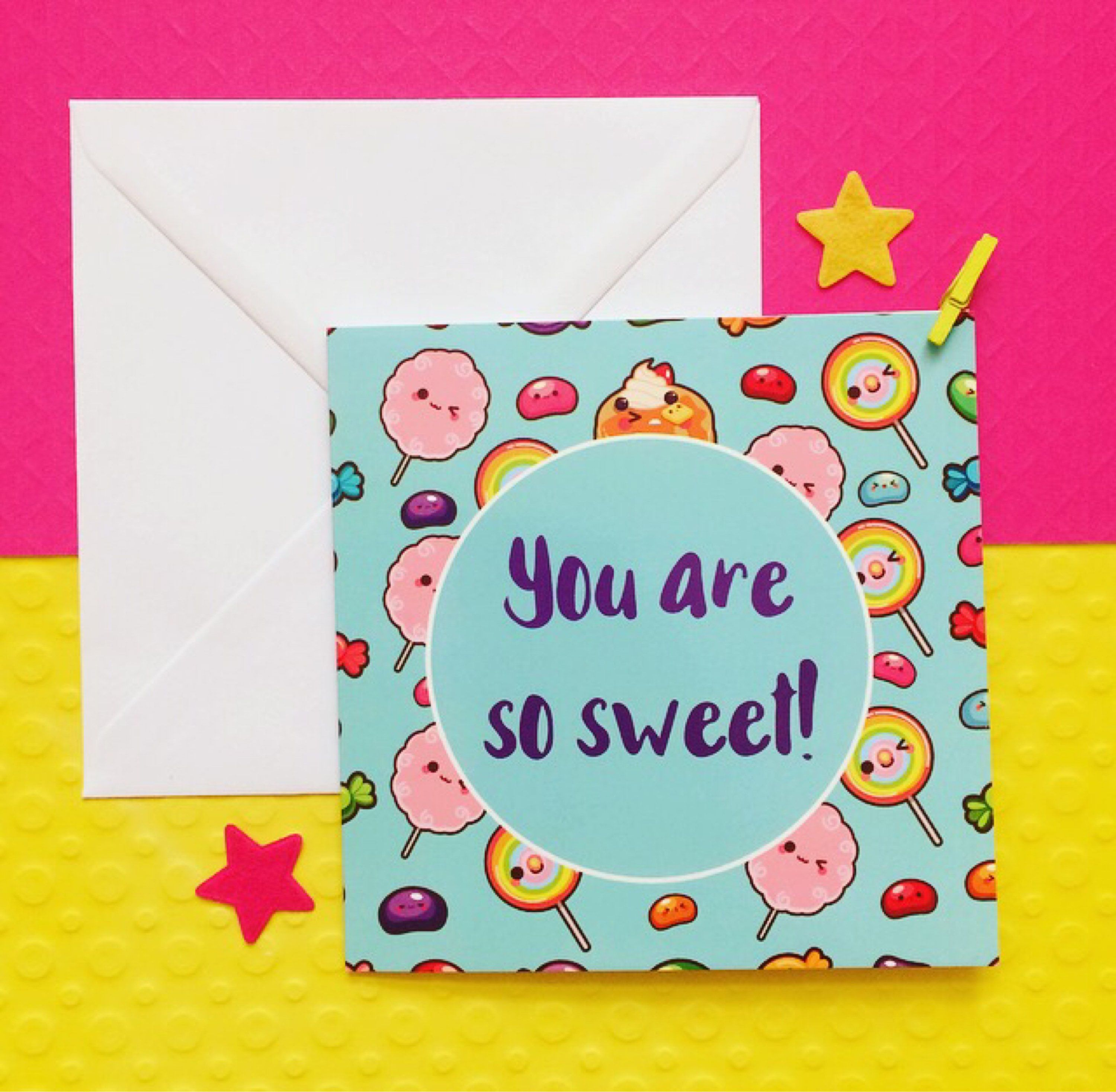 Sweet Card Thank You Card Gratitude Cards Anniversary Card For