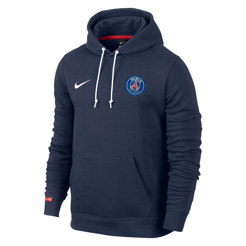 Nike Paris St. Germain Core Soccer Hoodie (Midnight Navy/Pimento/White) - order your PSG gear today at SoccerCorner.com  http://www.soccercorner.com/Nike-Paris-St-Germain-Core-Soccer-Hoodie-p/tj-ni694596-410.htm