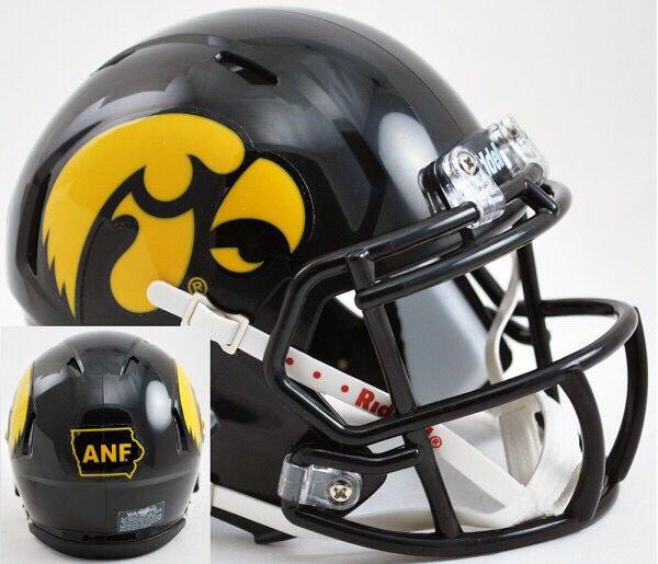 *CUSTOM* IOWA HAWKEYES NCAA Riddell SPEED Full Size Replica Football Helmet