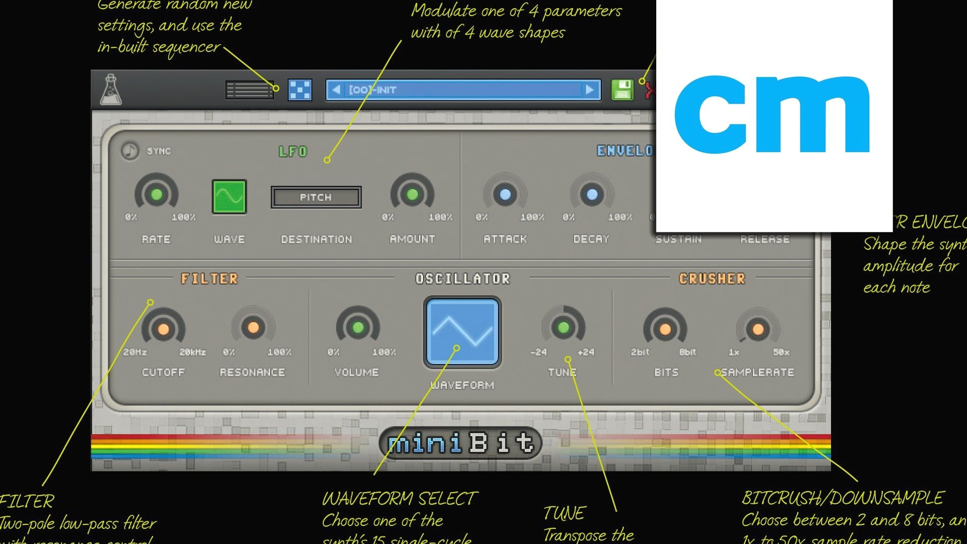 FREE VST/AU synth: AudioThing miniBit CM #seratodjpro