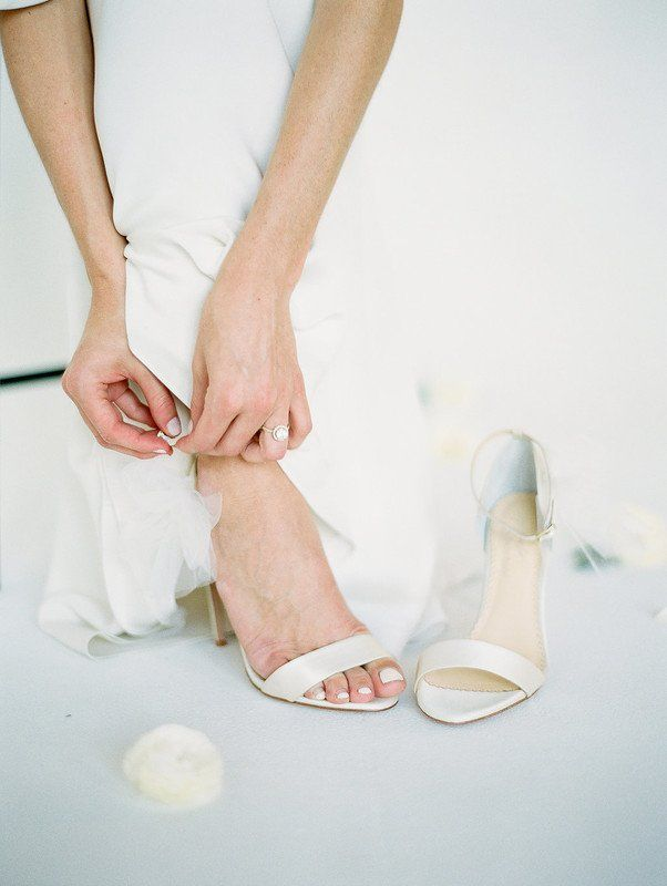 Classic Wedding Shoes White Open Toe Heels The Privilege Is