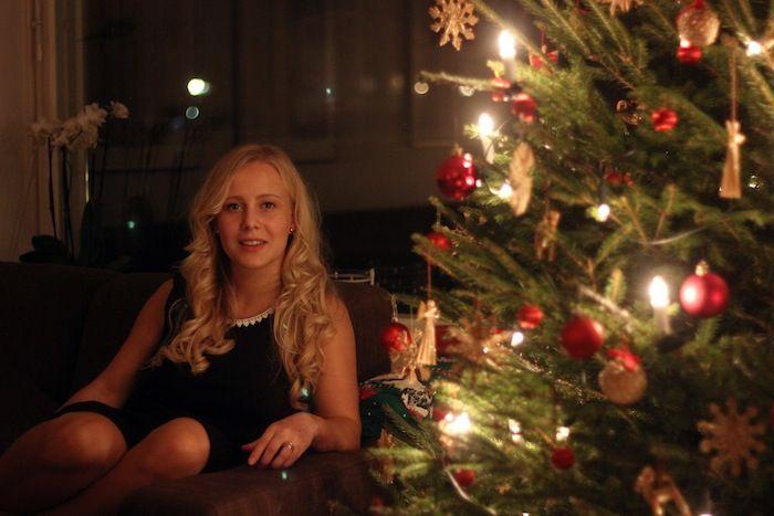 Henriikka and Lumoan Kaisla on christmas eve @aamukahvilla #Lumoan
