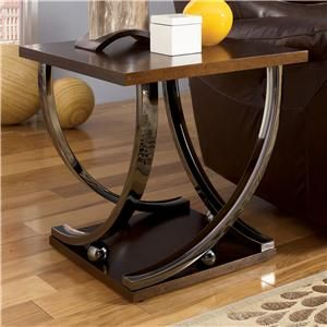 Signature Design By Ashley Rollins Square End Table   Unclaimed Freight Co.  U0026 Liquidation Sales