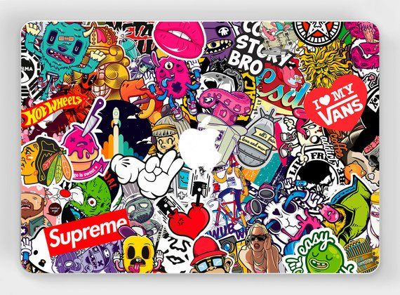 Brand Stickers Supreme Gucci Stickers Pack Macbook Sticker