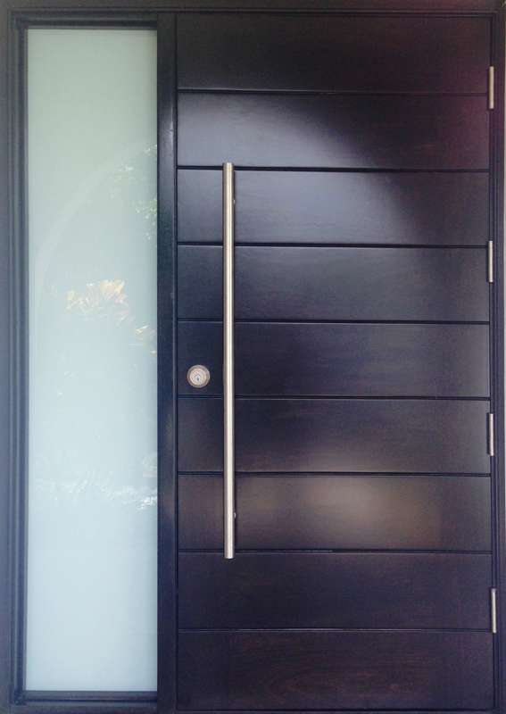 Hurricane Impact Doors Miami | Exterior French Door | Mahogany Wood |  Tropical Mouldings