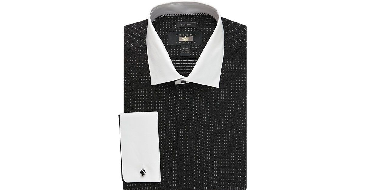 8b44581b8e8e Joseph Abboud Black Pin Dot Slim Fit Tuxedo Dress Shirt - Slim Fit from  MensWearhouse. #MensWearhouse
