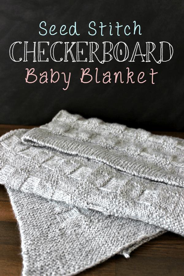 Checkerboard Baby Blanket Knitting Pinterest Seed Stitch