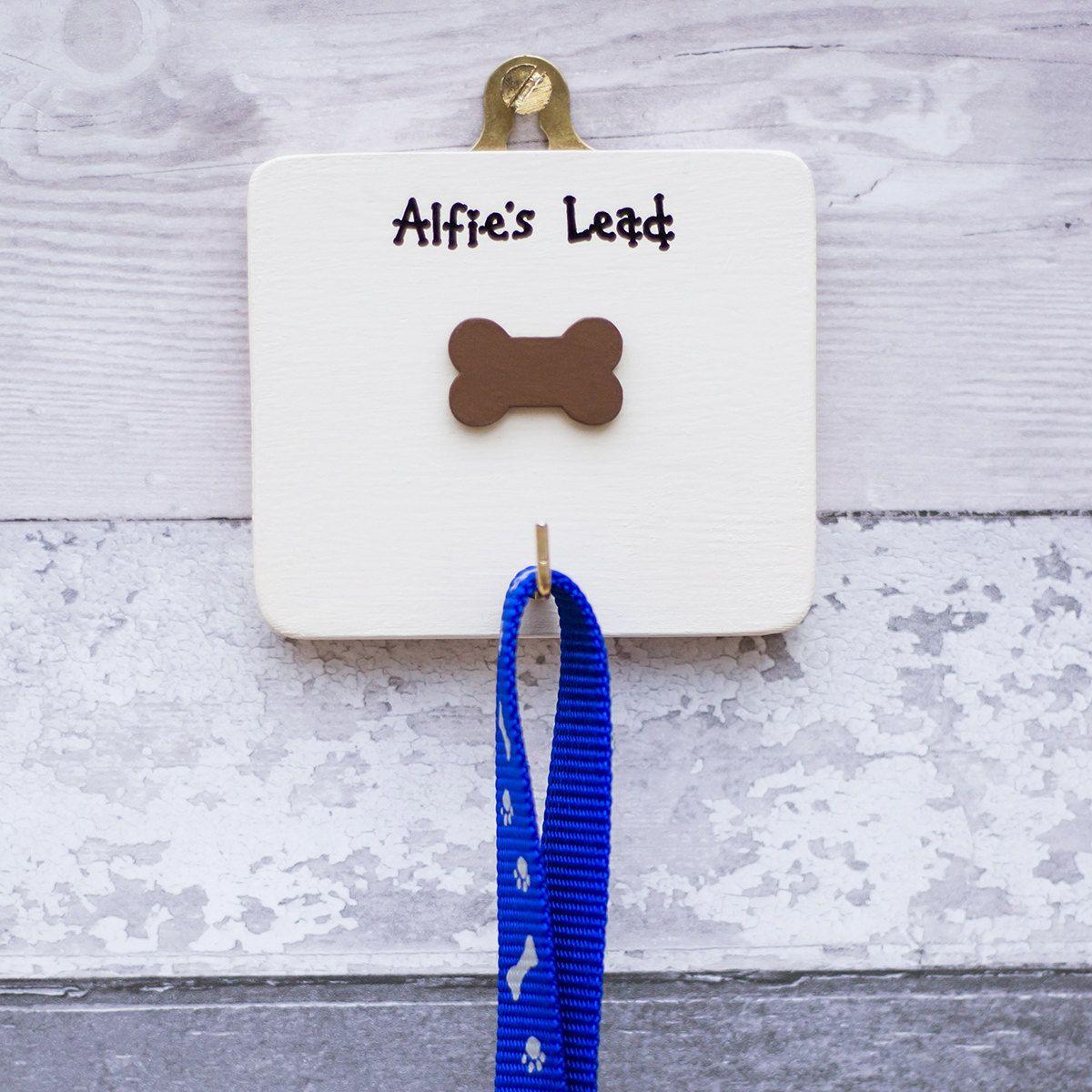Dog lead hanger personalised dog lead hook gift for dog