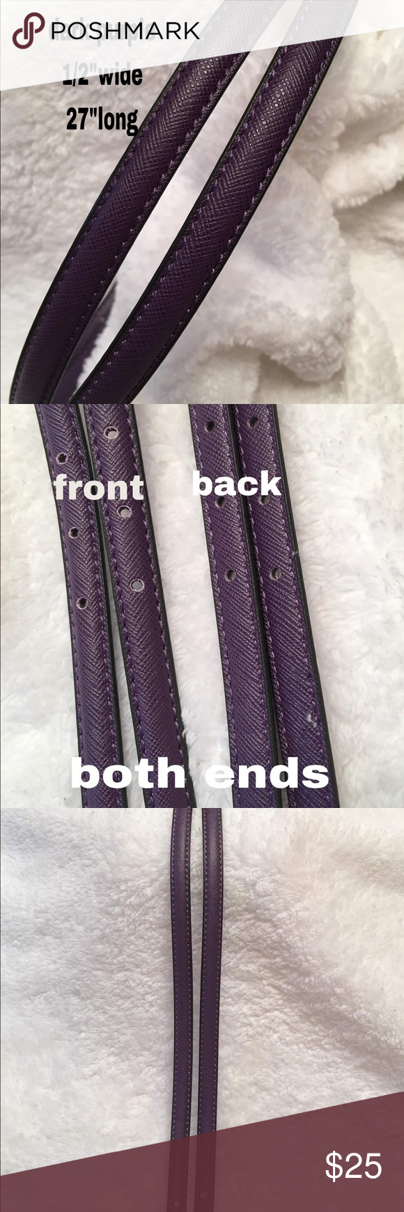 """Replacement straps BROWN 9//16""""wide brandnew"""