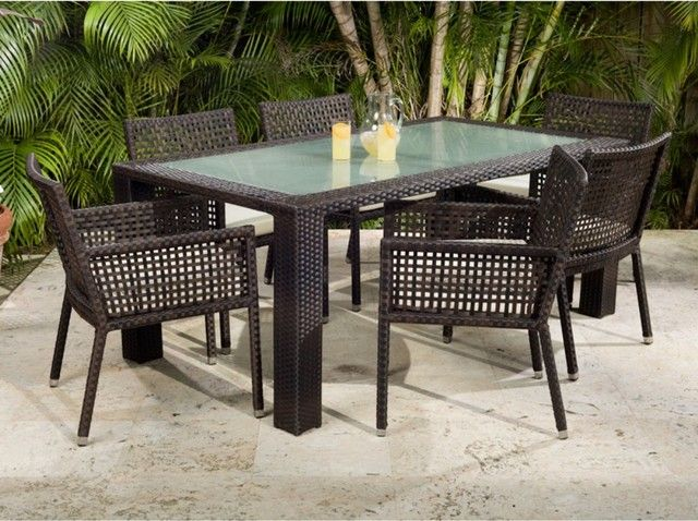 Interior: Palm Tree Glass Orange Juice Glass Dining Table Classy 6 Piece Patio  Dining Set Glass Top Table Orange Juice Two: Awesome Outdoor Patio Dining  ...