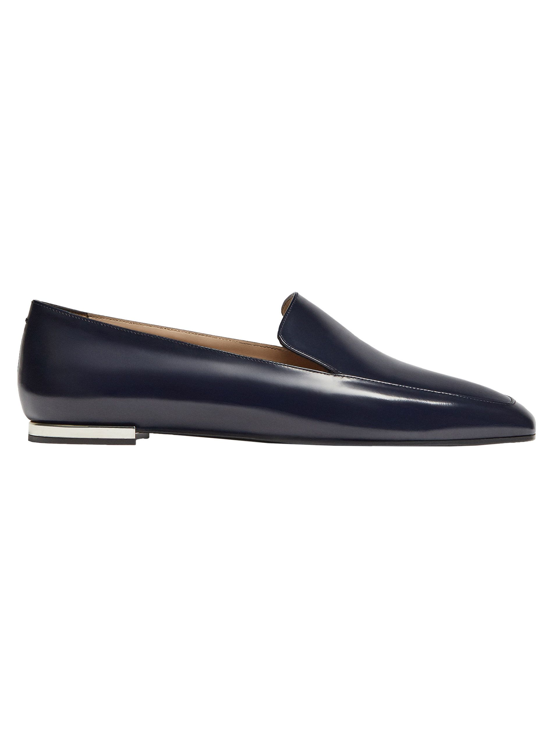 35b09c21a8 Blue antik leather loafers. Featuring a metal detail and leather lining and  insoles.