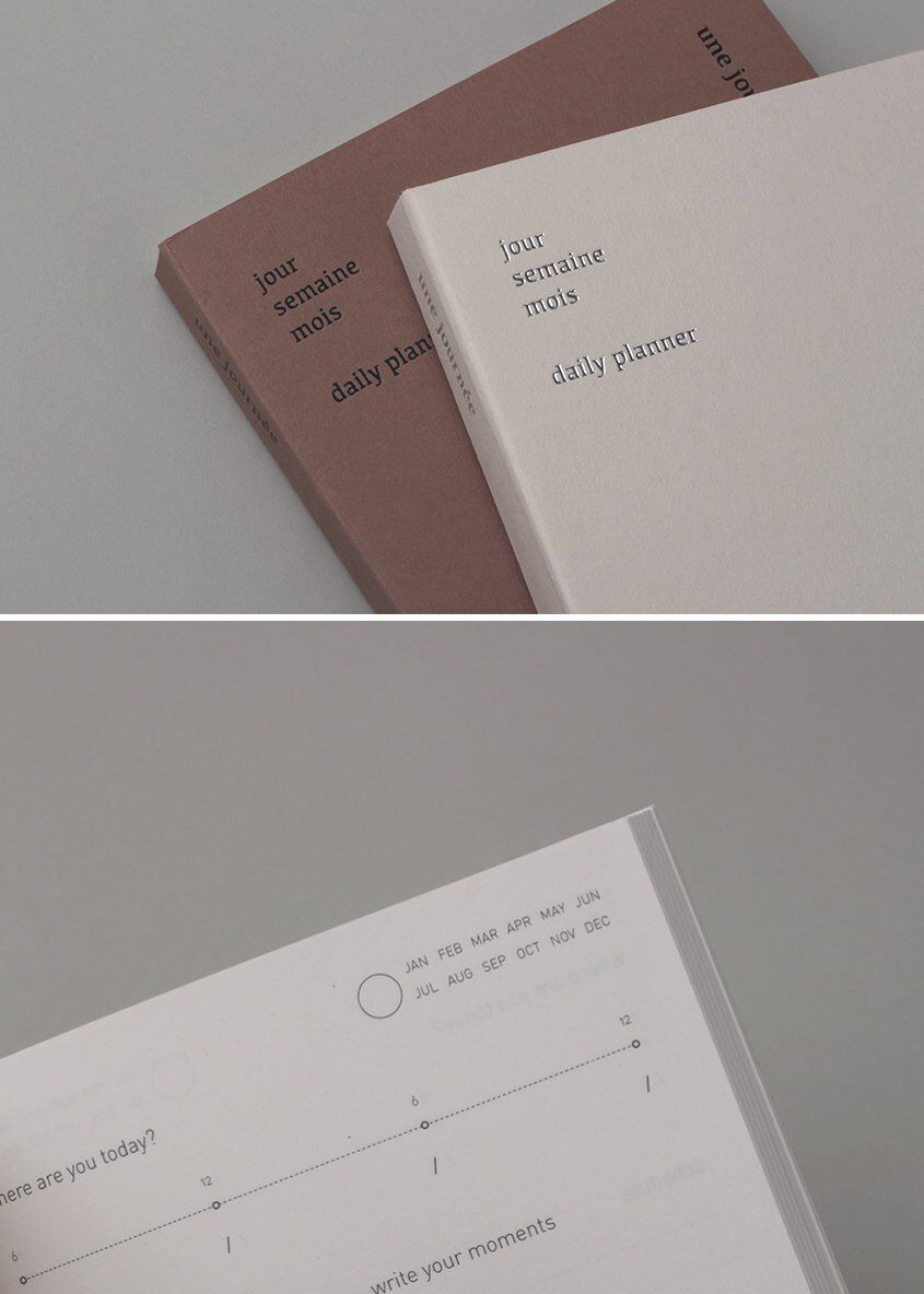 Daily Planner / Une Journée / Monthly Planner / Diary