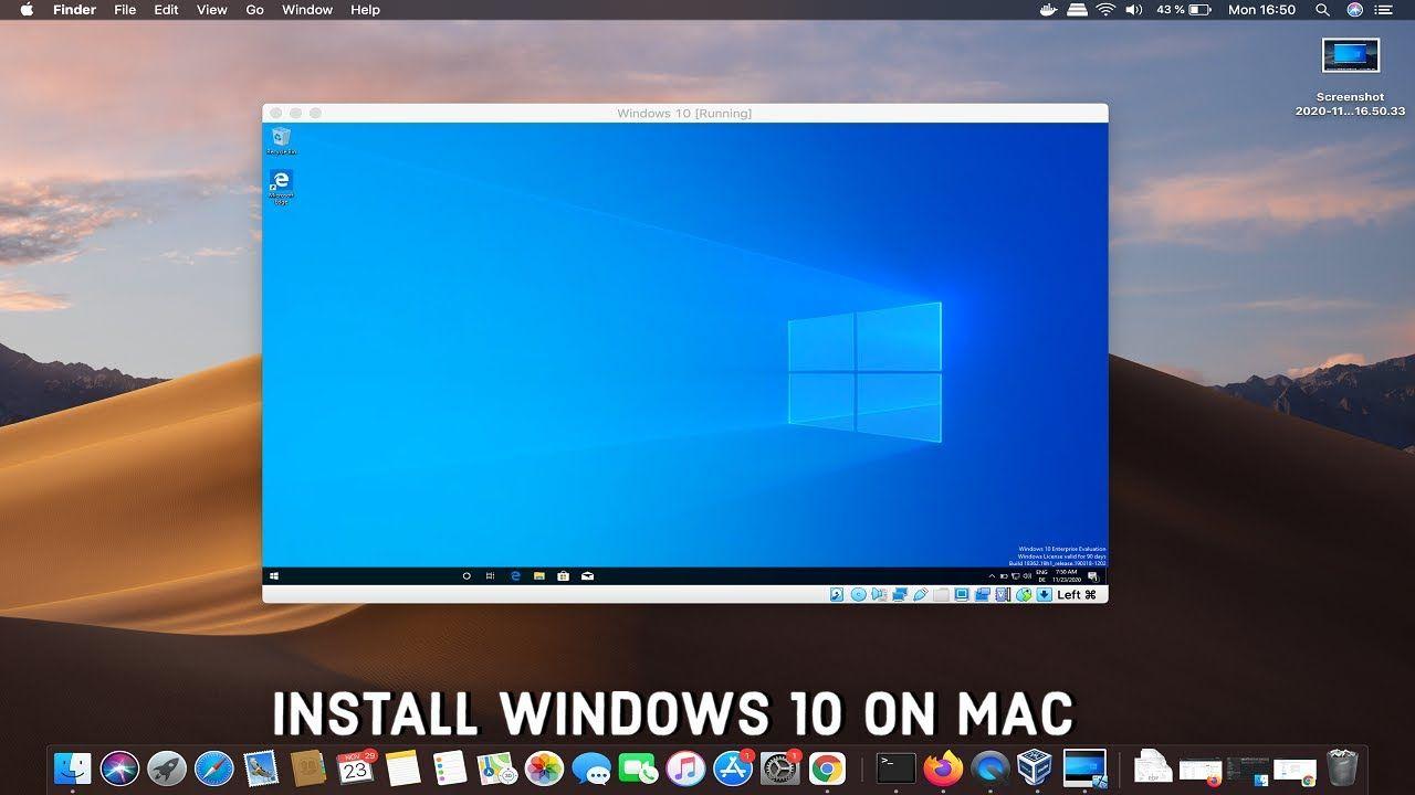 How To Install Windows 10 On Mac Using Virtualbox In 2021 Window Installation Windows 10 Installation