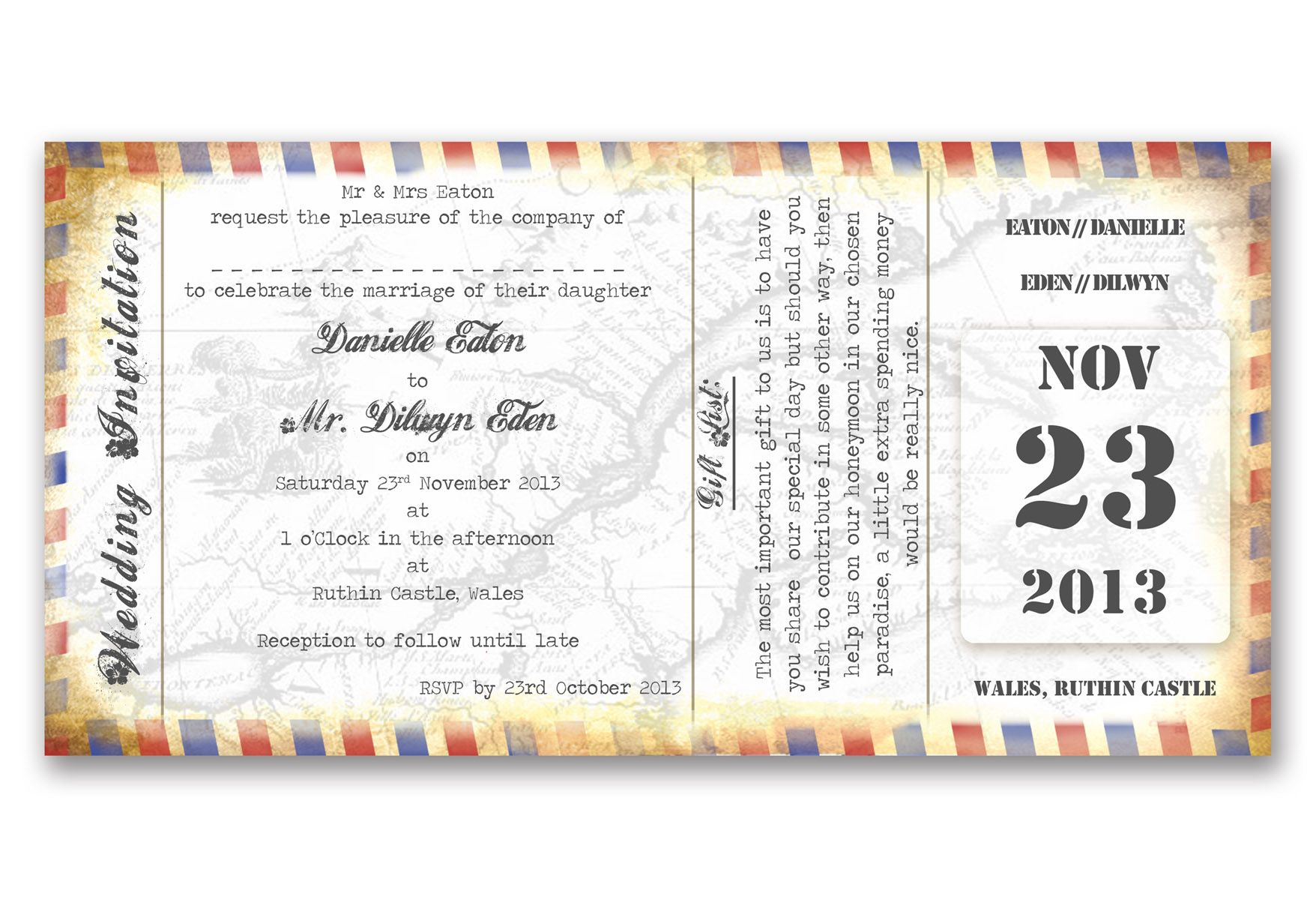 Boarding Pass Vintage  Buscar Con Google  Wedding Fever