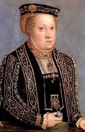 Katherine Hapsburg, Queen of Poland, ca. 1555 (Francesco Terzio) or (Lucas Cranach the Younger) (ca. 1523-1591) Muzeum Książąt Czartoryskich, Kraków
