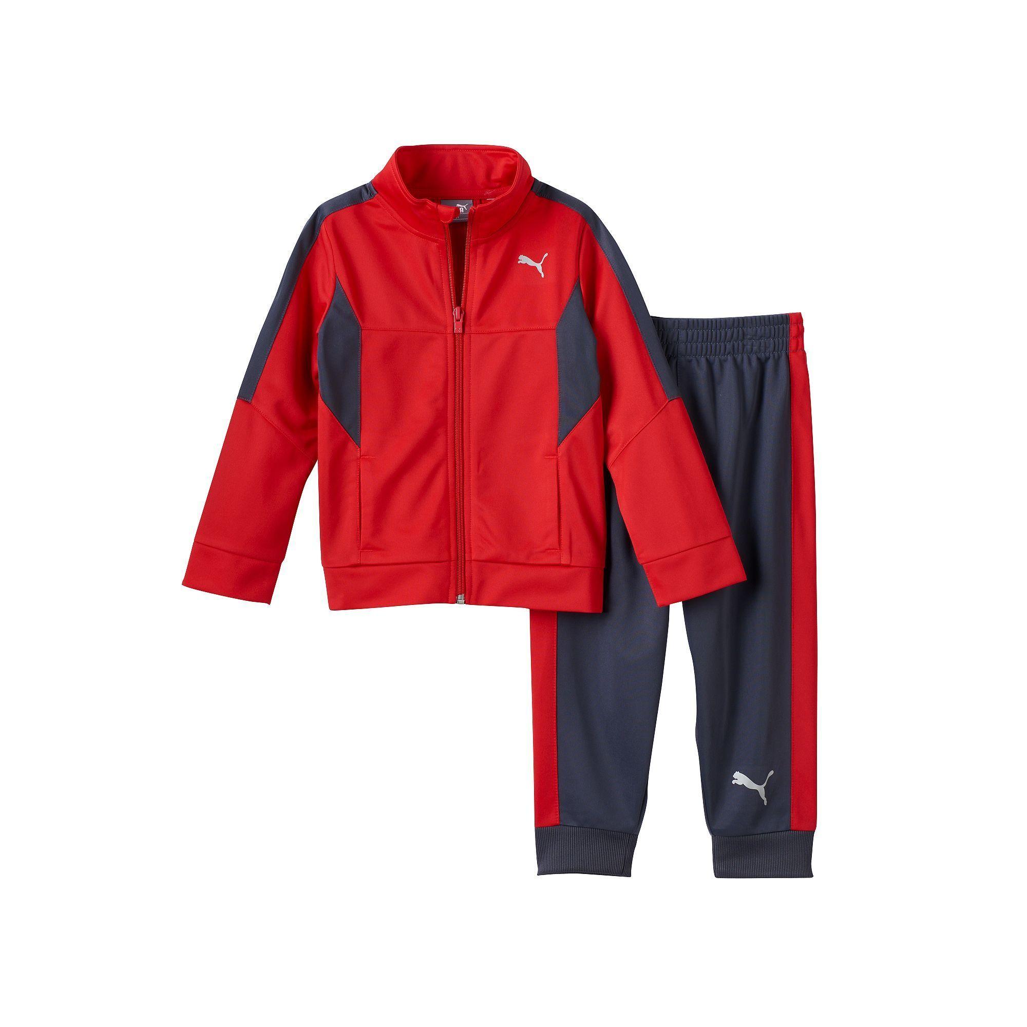 Boys 4-7 PUMA Colorblocked Track Jacket & Jogger Pants Set, Size: 4