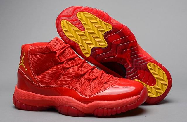 Air Jordan 11 Retro XI All Red Yellow