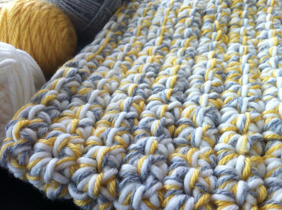 Quick Baby Blanket Using Extra Large Crochet Hook And 3 Strands Of