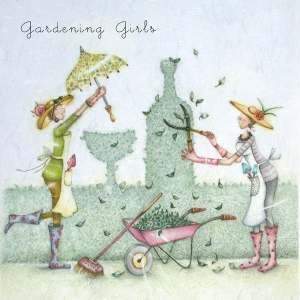 Cards Gardening Girls Gardening Girls Berni Parker Designs