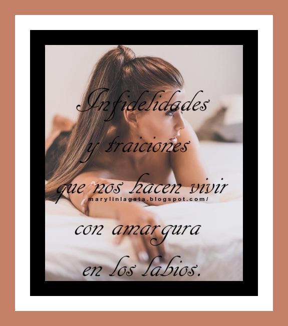 El tiempo pasa, y mientras tanto vivimos con sufrimientos a causa del amor, del desamor, de las infidelidades y traiciones que nos hacen vivir con amargura en los labios… Hasta llegamos a odiar al viento que nos despeina el cabello, vivimos una constante inseguridad ante la vida, y desconfiamos de todas las cosas que giran a nuestro alrededor… Actuamos mal, y hacemos daño a quien menos se lo merece.