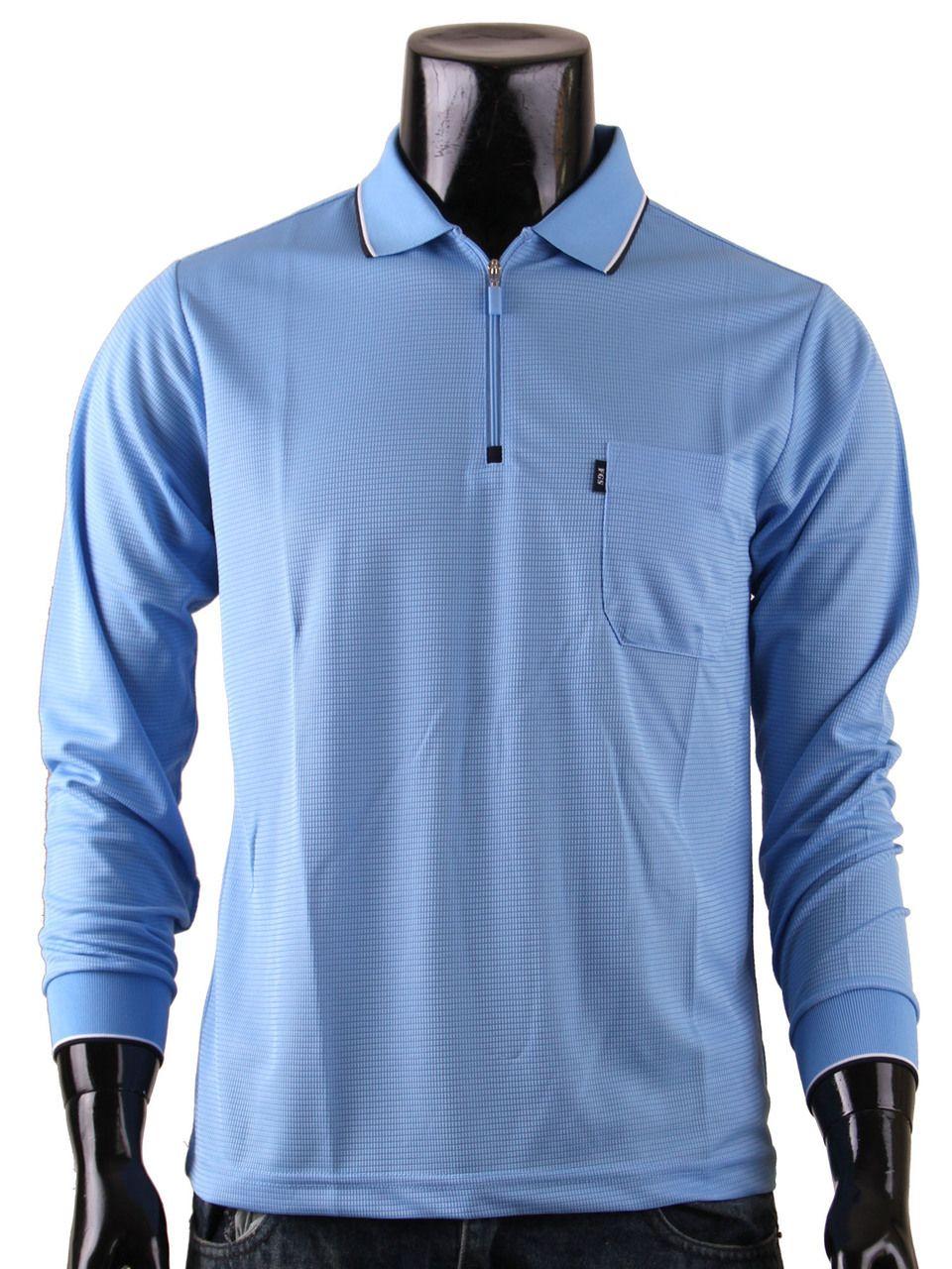1d930226 Men's Zip Polo Shirt DRI FIT Zip Polo Shirt Long Sleeves Plain Zip ...