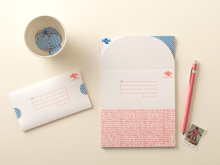 Cute Stationery That Doubles As An Envelopes  Correspondance