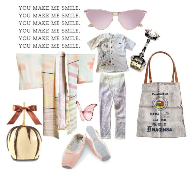 """Smiling Softly"" by michelle858 ❤ liked on Polyvore featuring Sansha, Le Specs and Apples"