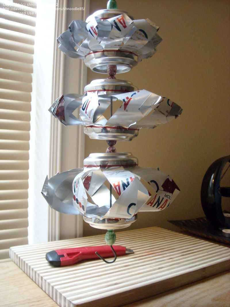 Can wind spinner aluminum can crafting soda pop for Aluminum can crafts patterns