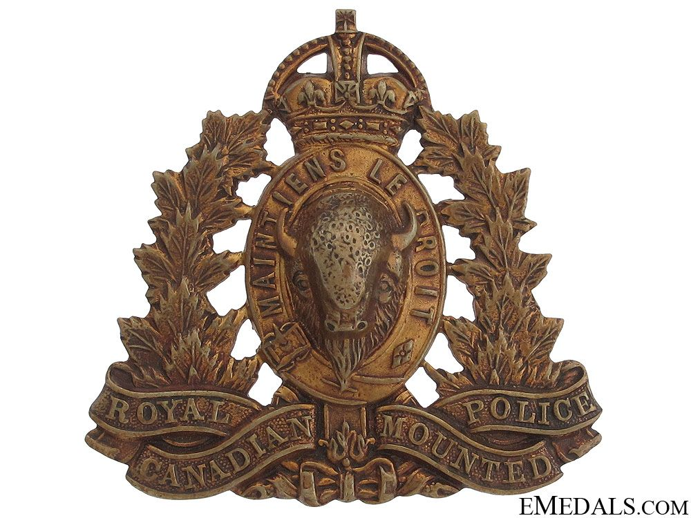 Royal Canadian Mounted Police Cap Badge eMedals Police