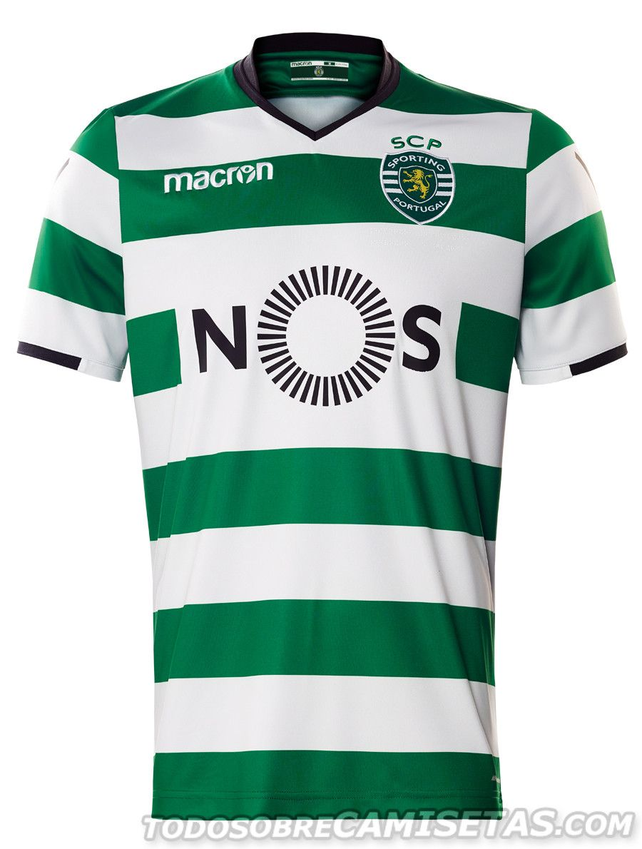 5afe50295bb12 Camisolas 2017-18 Macron do Sporting Clube de Portugal