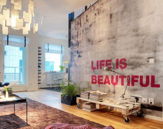 Quero uma parede assim