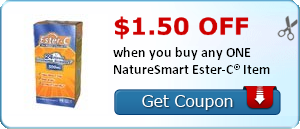 $1.50 off when you buy any ONE NatureSmart Ester-C® Item