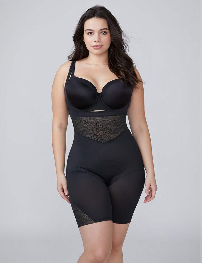 332858881 Shape By Cacique Open-Bust Thigh Shaper