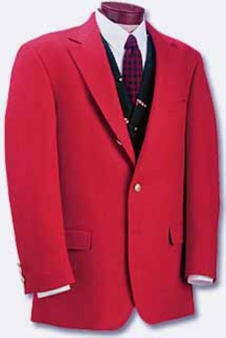 RED sport coats - RED blazers  23205 Sportcoat poly-wool
