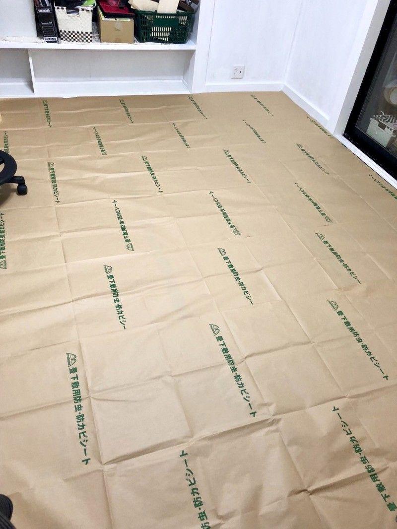 和室 洋室にリノベ 畳にクッションフロアを敷いてイメチェン 防カビ