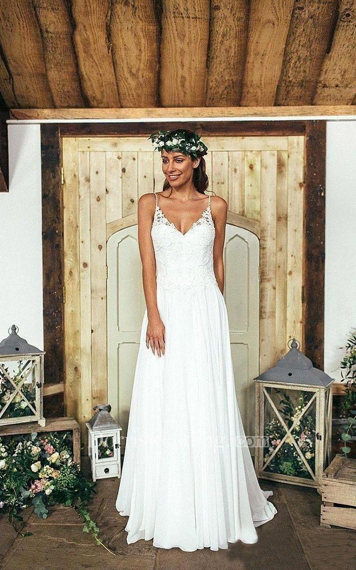 39+ V neck a line short wedding dress information
