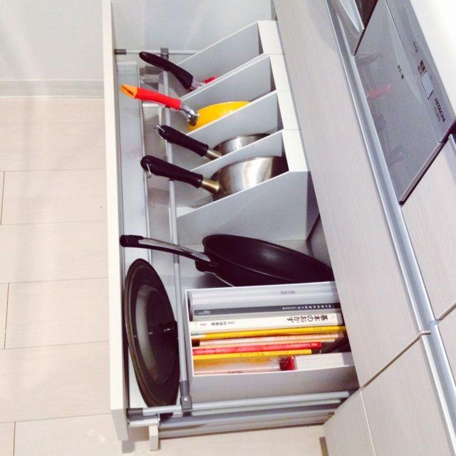 おしゃれで使いやすいキッチン収納アイデア60選 収納 アイデア 収納 アイデア キッチン フライパン 収納