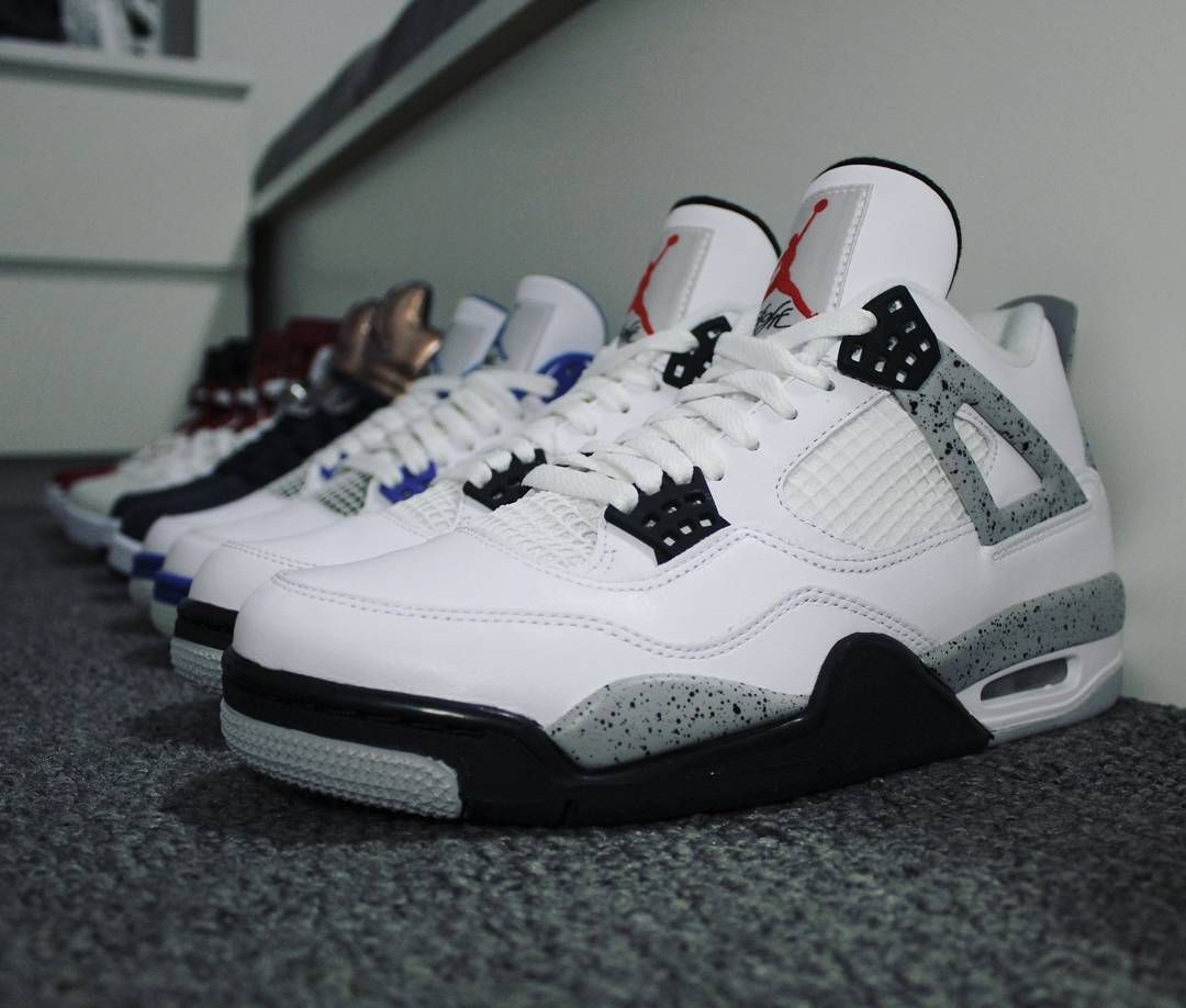 ef444ab5 Go check out my Air Jordan 4 Retro OG White Cement on feet and close ...