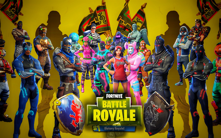 Download Wallpapers Fortnite Battle Royale Characters Cast 2018 Games Poster Fortnite Besthqwallpapers Com Cute Wallpapers Fortnite Hd Cute Wallpapers