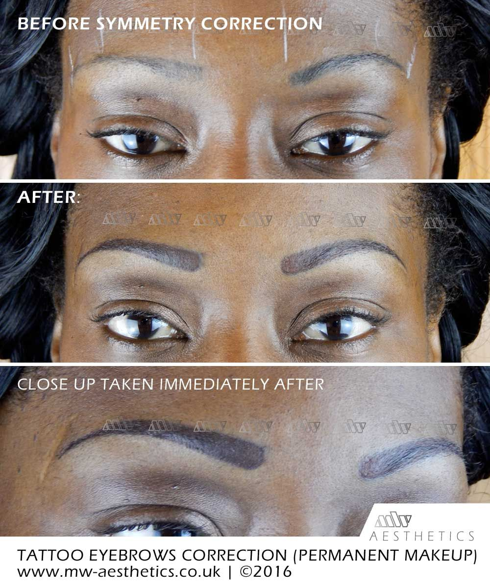 Semi permanent eyebrows - correction of old permanent makeup | micro ...