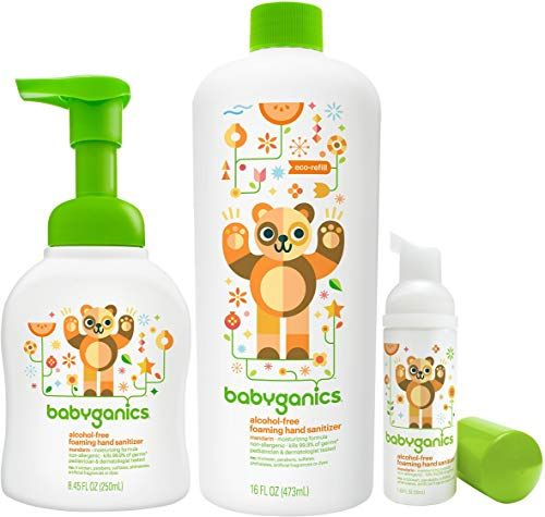 New Babyganics Foam Hand Sanitizer Refill Bottle On The Go Set