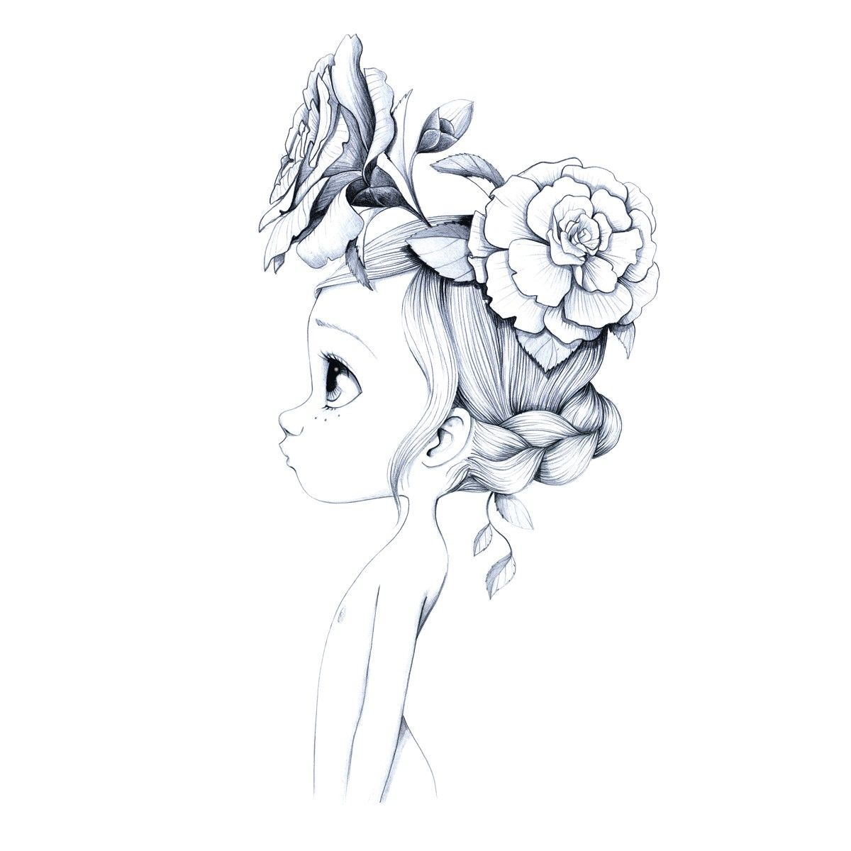 Tableau Wild Girl 01 En 2020 Fille Sauvage Dessin Art Plastique
