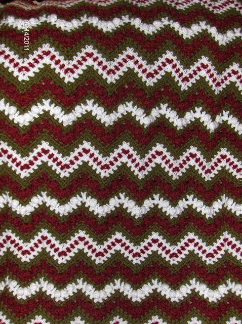 Christmas Popcorn Ripple Crochet Afghans By Me Pinterest