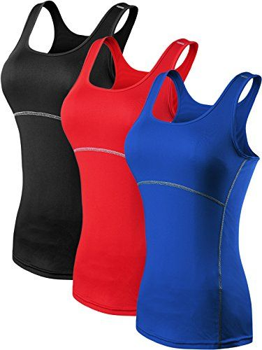 bb49856944841a Neleus Women s 3 Pack Dry Fit Compression Long Tank Top     You can get  more details by clicking on the image.